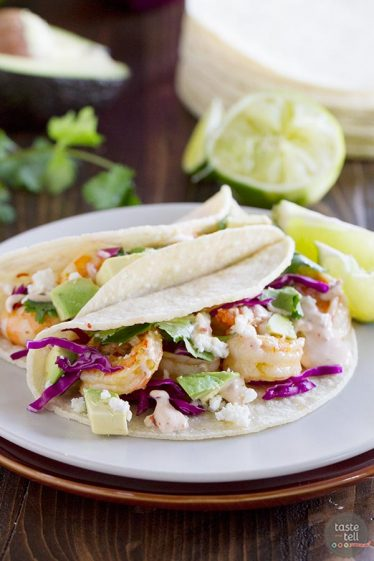 Easy, quick dinner idea - Chipotle Lime Shrimp Tacos recipe