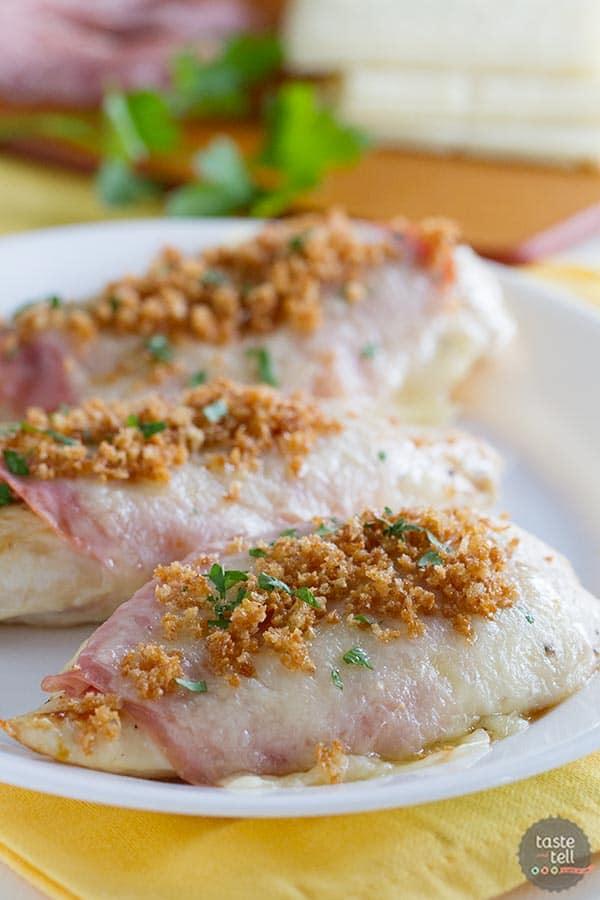 Easy Chicken Cordon Bleu on www.tasteandtellblog.com