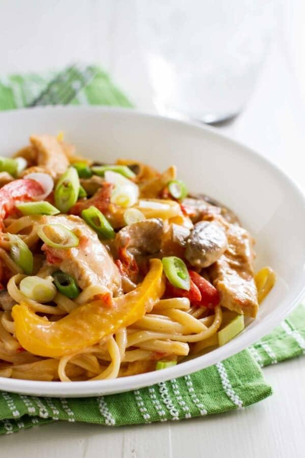 How to Make Lighter Cajun Chicken Pasta