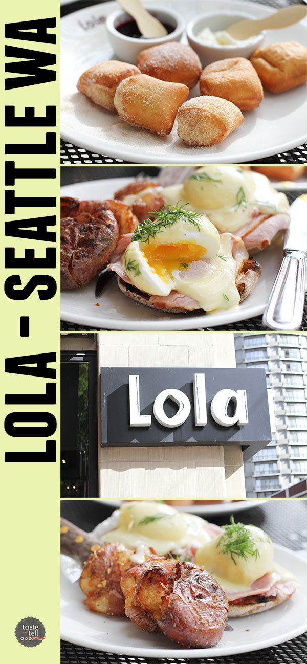 Lola by Tom Douglas - Seattle, Washington. Don't miss the eggs benedict, the potatoes or the doughnuts!