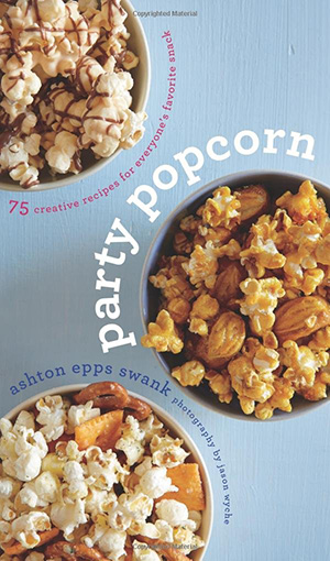 A review of Party Popcorn by Ashton Epps Swank and recipe for Muddy Buddy Popcorn.