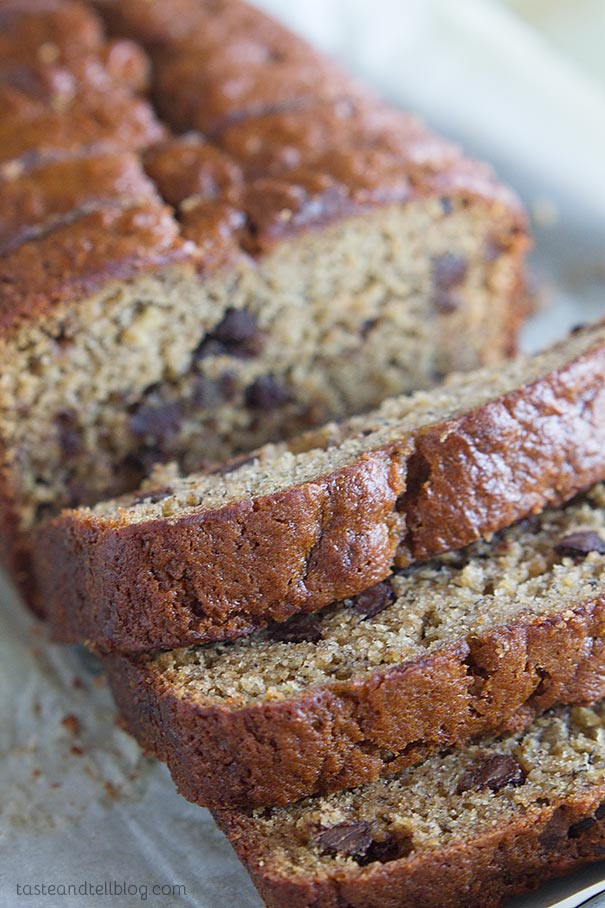 Fit for a king, this Peanut Butter Banana Bread with Chocolate Chips ...