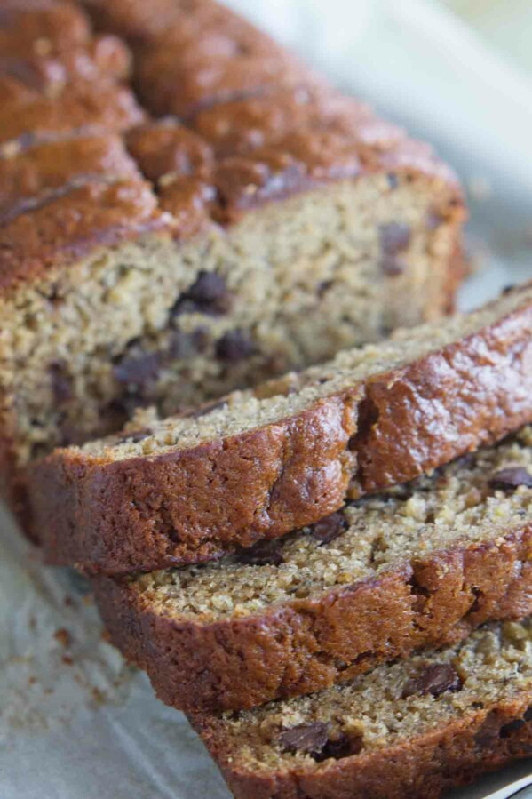 Recipe for Peanut Butter Banana Bread with Chocolate Chips