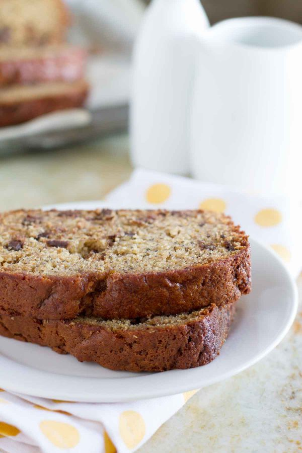 Peanut Butter Banana Bread with Chocolate chips Recipe