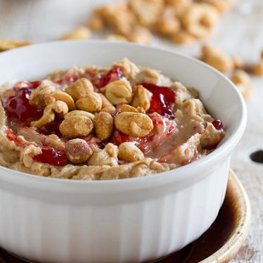 Peanut Butter and Jelly Dip - the perfect sweet dip recipe!
