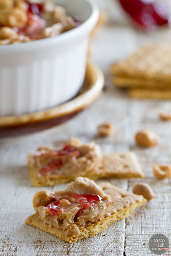 Ready in 10 minutes - Peanut Butter and Jelly Dip