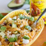 Southwestern Stuffed Spaghetti Squash recipe on tasteandtellblog.com