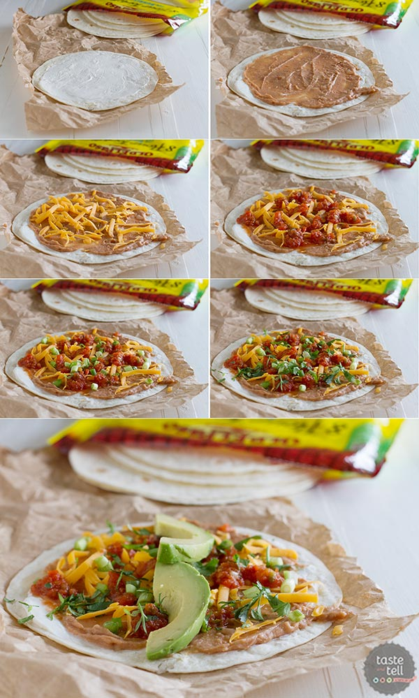 How to make Vegetarian Wraps with Beans and Cheese
