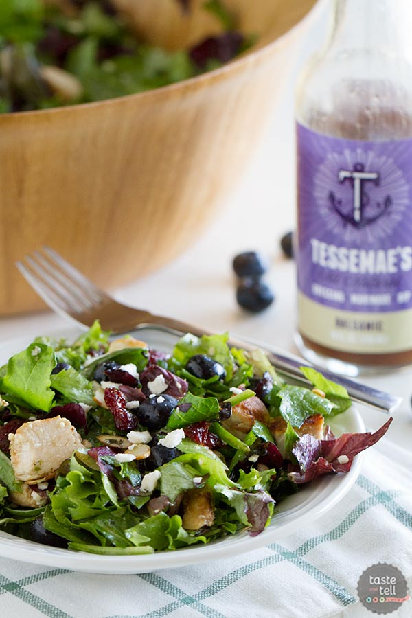 Berry Balsamic Chopped Salad Recipe with Grilled Balsamic Chicken