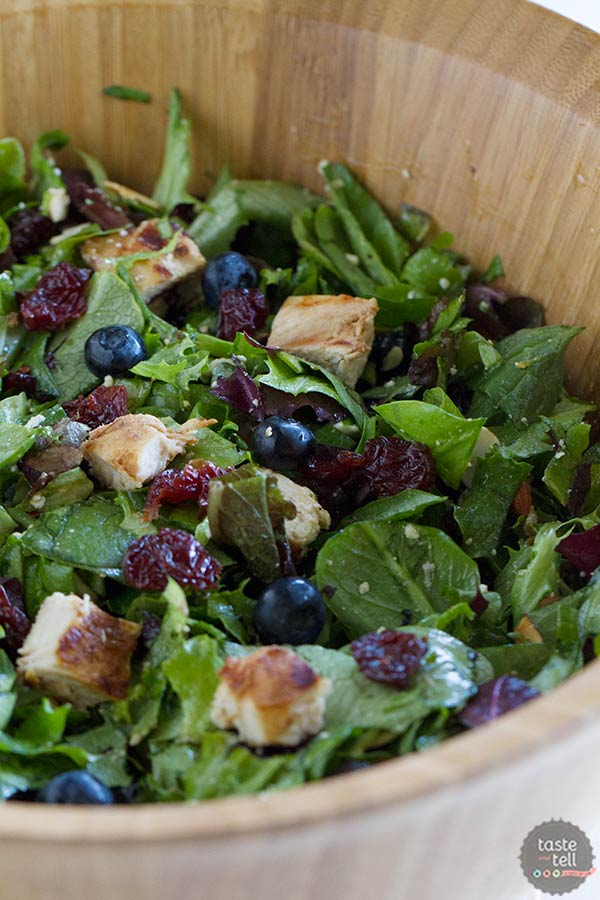Berry Balsamic Chopped Salad Recipe - a great lunch salad.