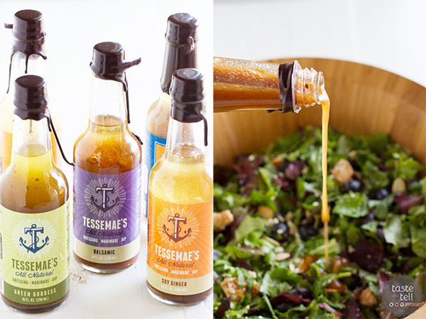Berry Balsamic Chopped Salad Recipe with Tessamaes Balsamic Dressing