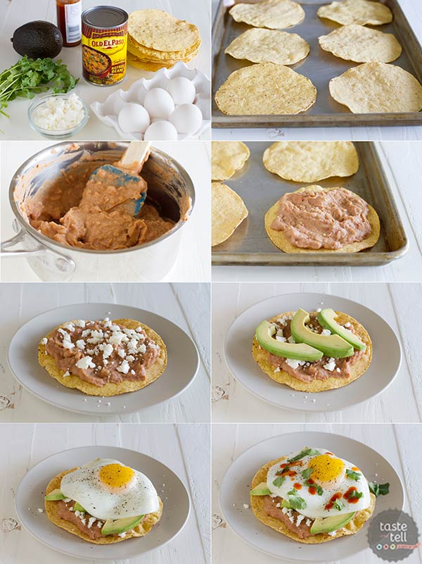 How to make Easy Breakfast Tostadas - so easy!