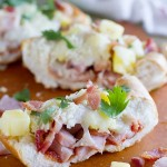 French Bread Hawaiian Pizza - The flavors of Hawaiian pizza served on French bread for a great dinner idea.