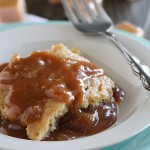 Gooey Slow Cooker Caramel Blondies - blondies are slow cooked in a rich and delicious warm caramel sauce.