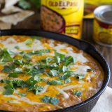 Hot Beef and Bean Dip - a crowd pleasing dip for any occasion!