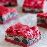 Oreo Cream Cheese Stuffed Red Velvet Brownies - the ultimate red velvet treat!