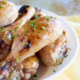 Pineapple Lime Broiled Chicken Drumsticks - an easy weeknight dinner.