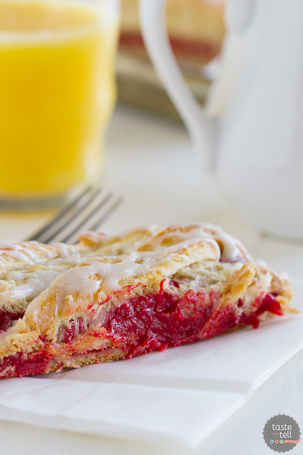 Red Velvet Cream Cheese Danish - a fun and festive breakfast recipe