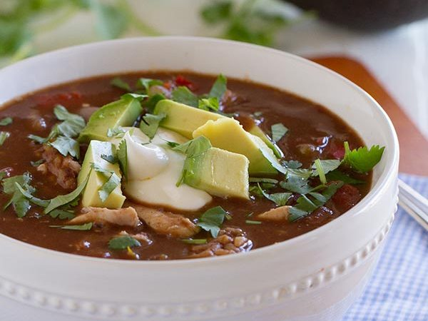 Southwestern Chicken and Rice Soup - fast, easy and super flavorful!