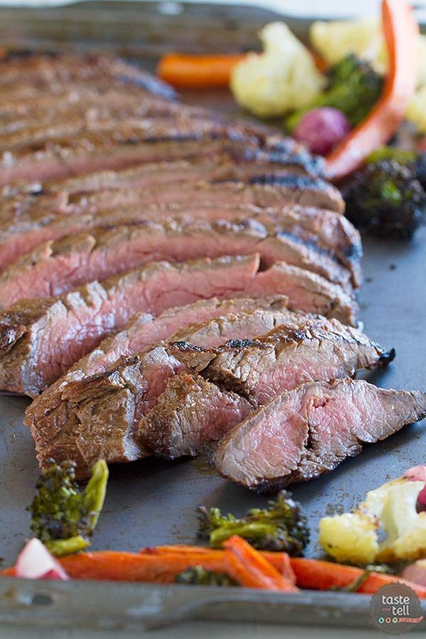 Balsamic Grilled Flank Steak | Lighten Up, Y'all Review