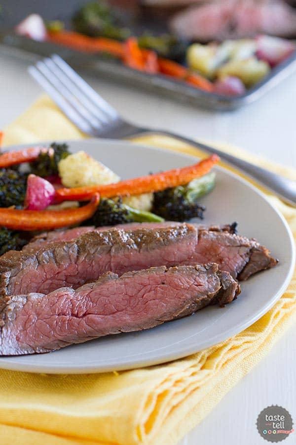 Balsamic Grilled Flank Steak - a simple steak supper recipe.