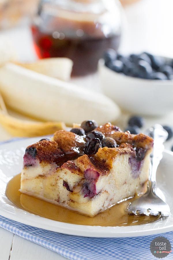 Blueberry Banana French Toast Bake has fresh bananas and blueberries ...