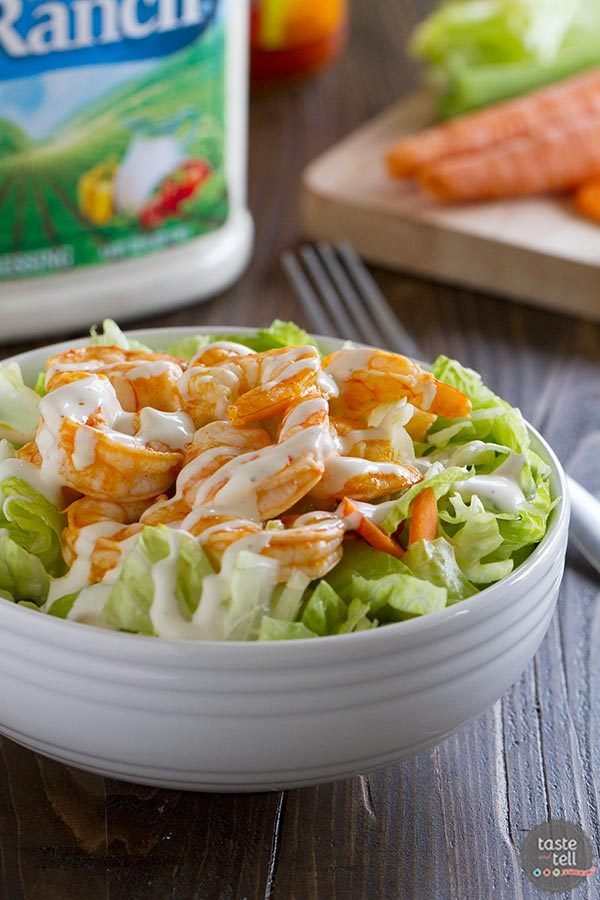 Buffalo Ranch Shrimp Salad