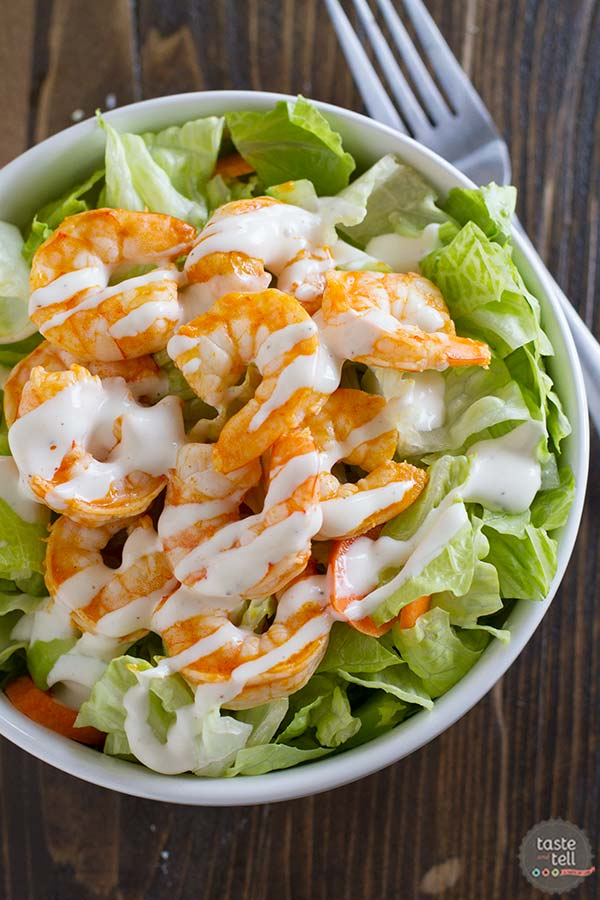 Buffalo Ranch Shrimp Salad Recipe