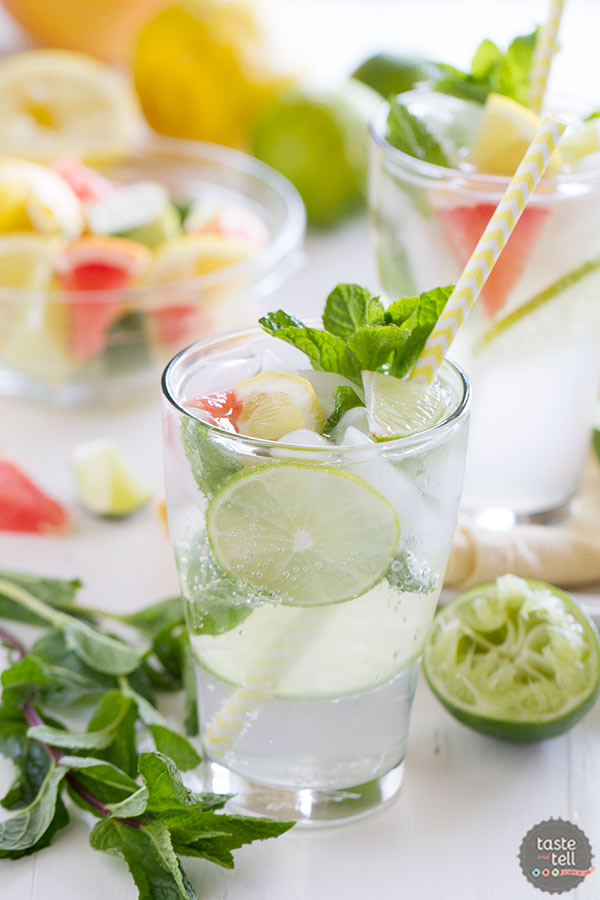 Not your normal mojito!!  This non-alcoholic Nojito mocktail is based off of the nojito served on Princess cruises.