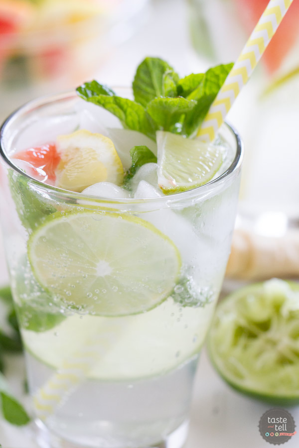 Nojito Mocktail - a non-alchoholic version of the mojito.