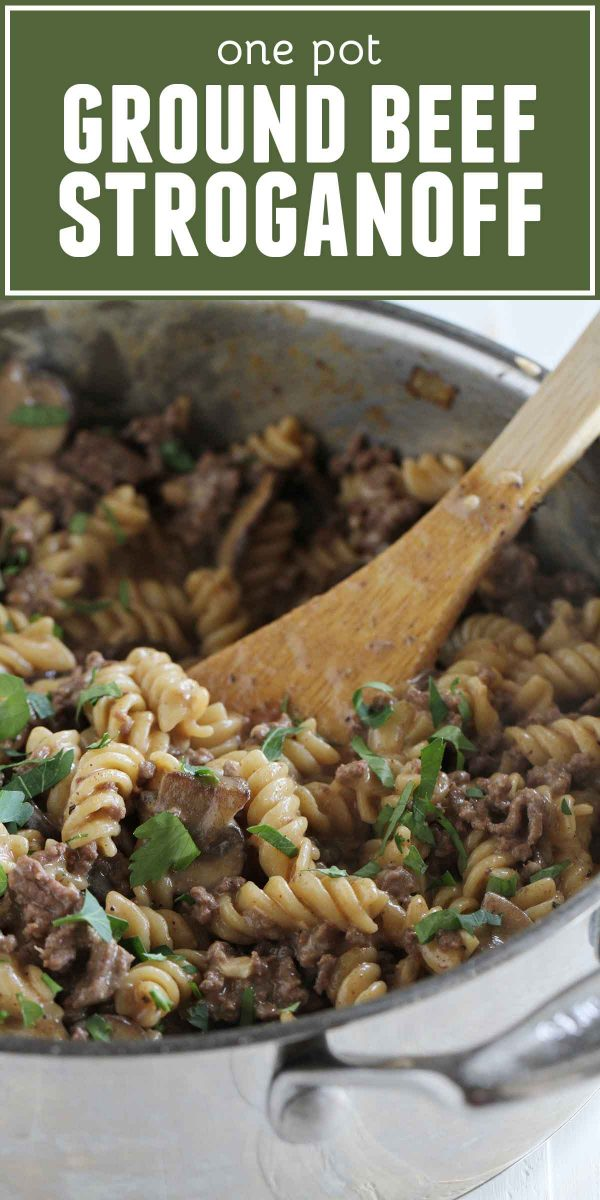 How to make One Pot Ground Beef Stroganoff