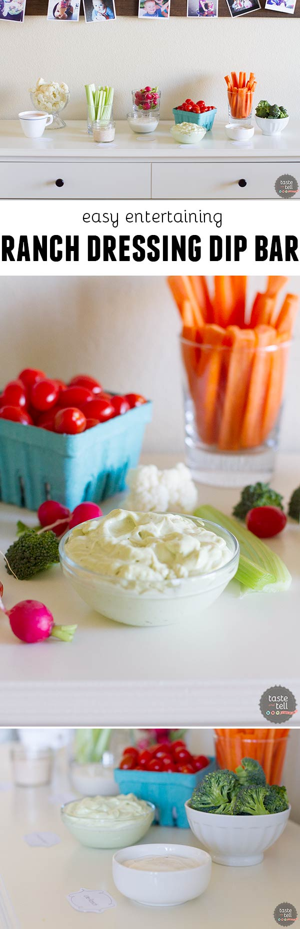 Easy Entertaining with a Ranch Dressing Dip Bar
