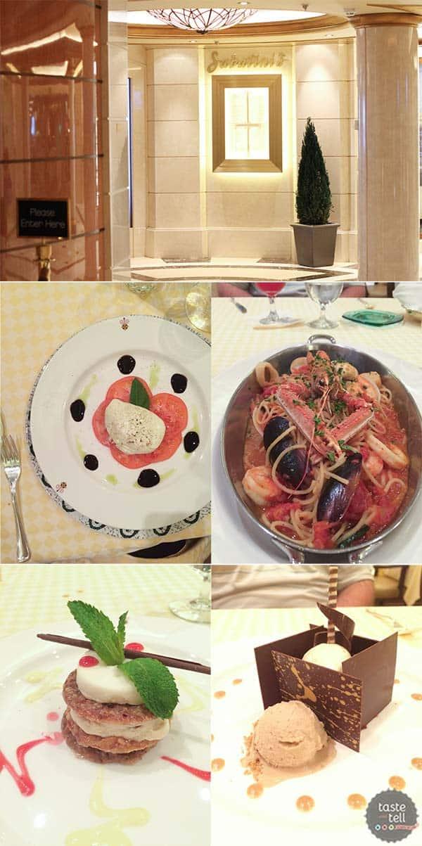 Sabatinis - dining on the Regal Princess