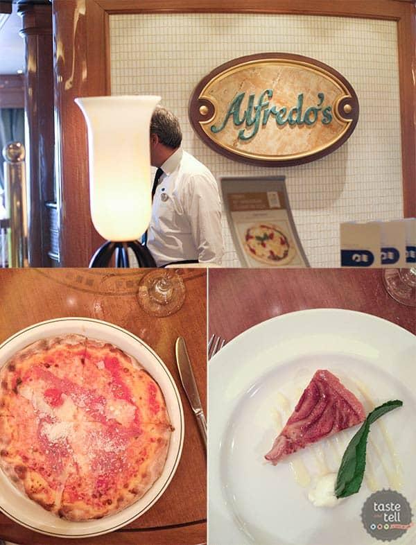 Alfredos - dining on the Regal Princess