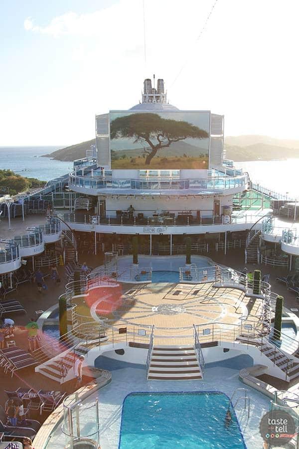 The deck on the Royal Princess