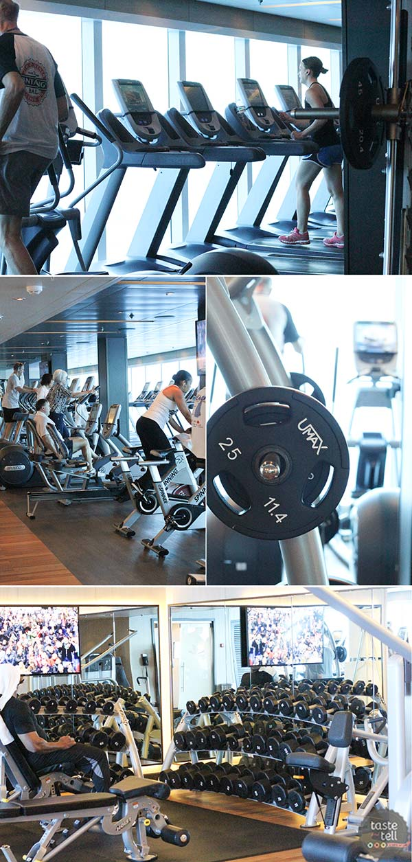 Working out at sea - Regal Princess