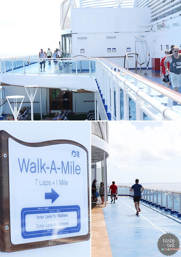 Outdoor jogging track on the Regal Princess