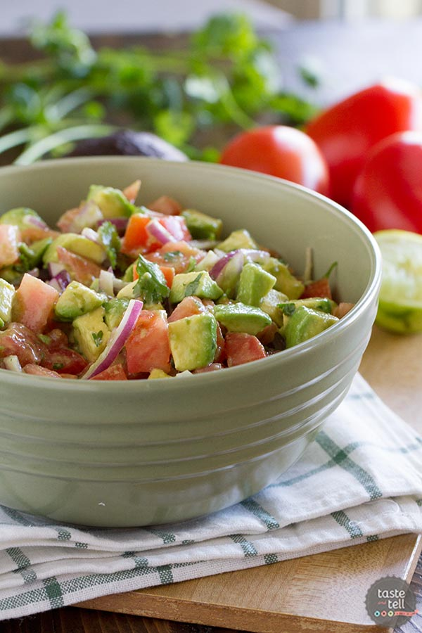 Fresh and bright, this Avocado and Tomato Salad is a perfect side dish ...