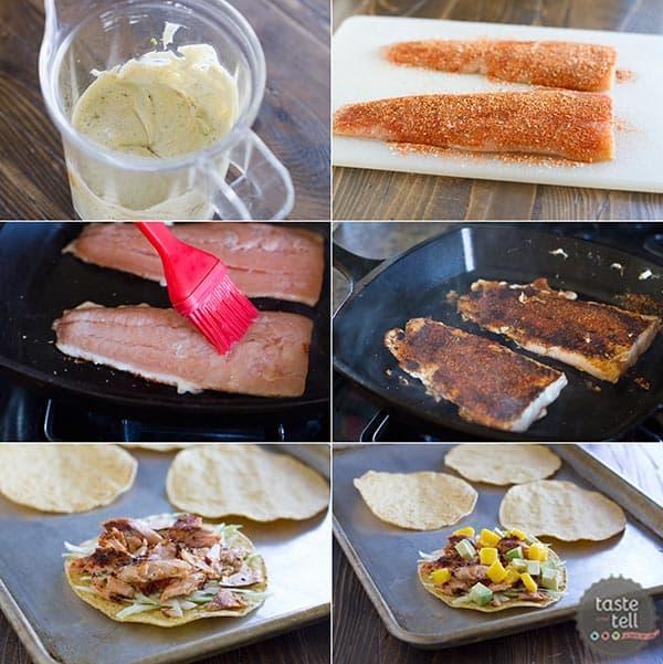How to make Blackened Salmon Tostadas