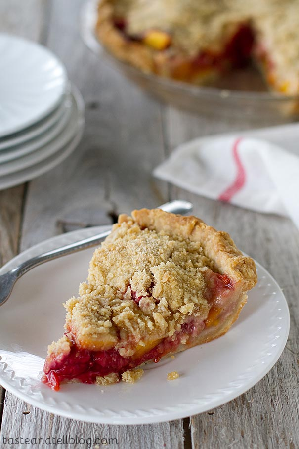 The perfect way to enjoy the end of summer fruit bounty, this Peach Melba Pie brings together peaches and raspberries in a must make summer pie.