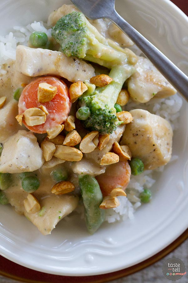 Peanut Chicken Stir Fry - easy weeknight meal