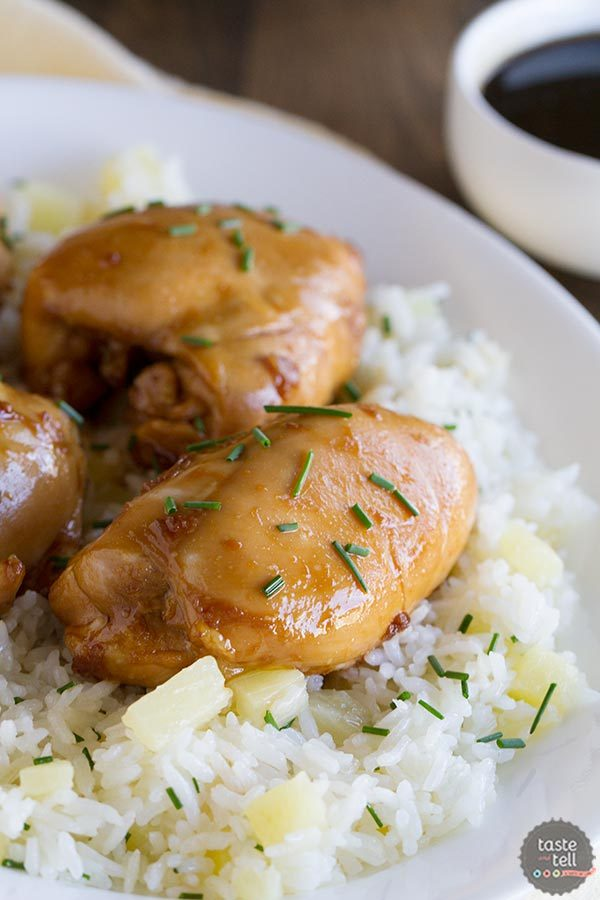 Sweet Asian Chicken with Pineapple Rice