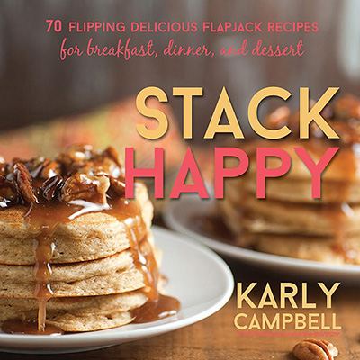A Review of Stack Happy by Karly Campbell, plus a recipe for Cheesecake Pancakes