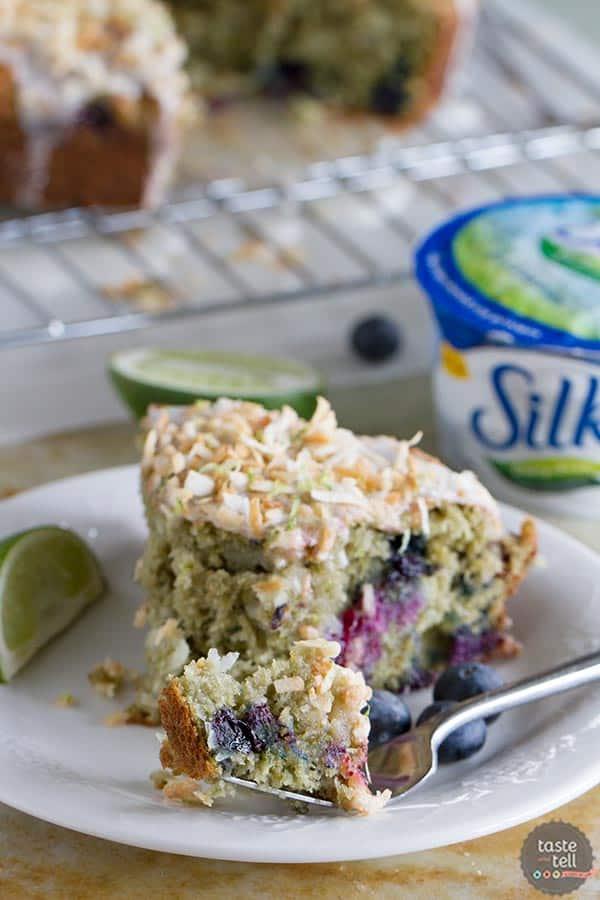 Cake for breakfast? Yep! Blueberry, Lime and Coconut Breakfast Cake.