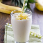 This super simple 3 ingredient Pineapple Banana Smoothie, filled with a tropical punch of flavor, is perfect for whipping up for an easy breakfast or afternoon pick-me-up.