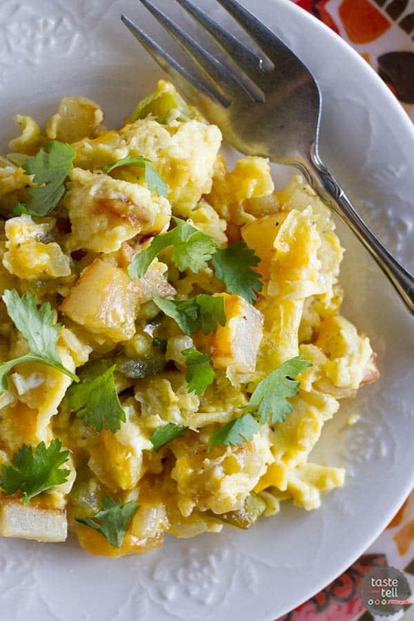 Recipe for Poblano Chile Scramble - Taste and Tell