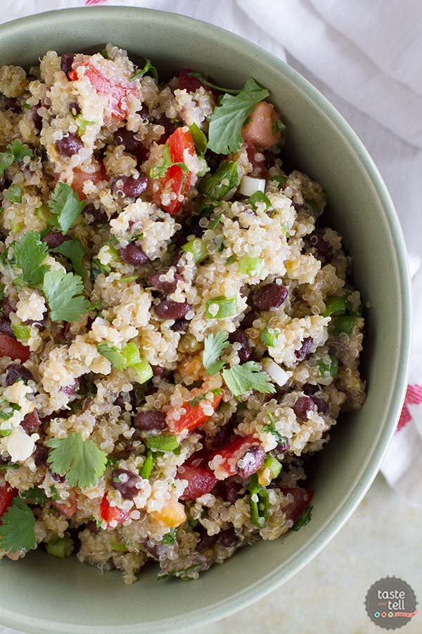 Tomato and Black Bean Quinoa Salad - www.tasteandtellblog.com