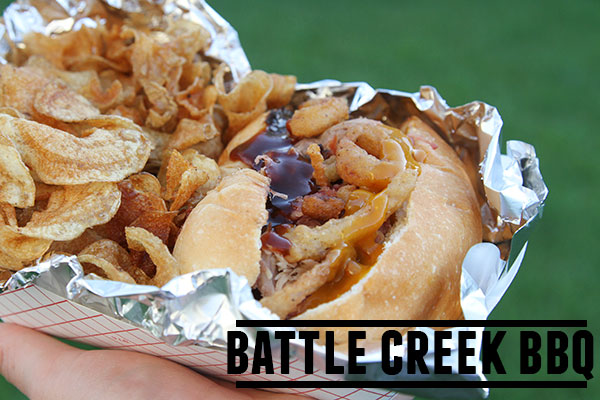 Battle Creek BBQ - a Utah Food Truck serving some of the best BBQ - from ribs to turkey legs to pulled pork sandwiches. Do not forget the freshly made chips!