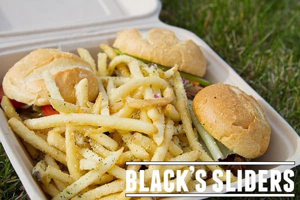 Black's Sliders - a Utah food truck serving locally sourced, hormone and antibiotic free food.
