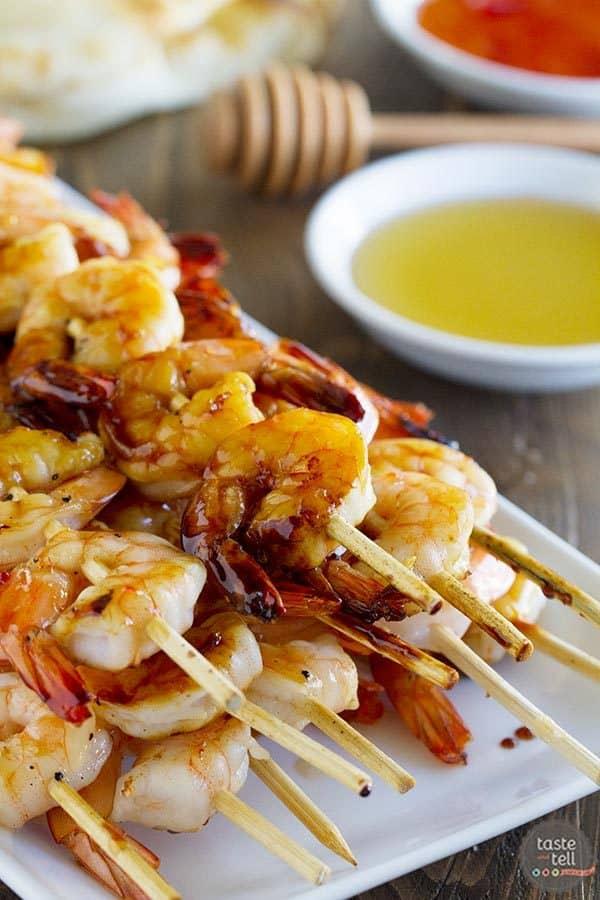 Chili Honey Garlic Shrimp Kabobs | Endless Summer Cookbook Review